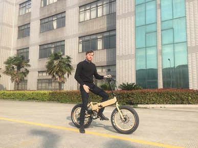 French Client visit for foldable ebike