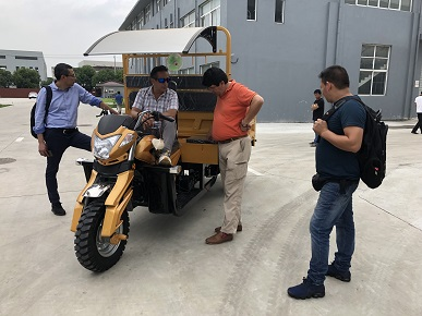 Factory Tour Target for Cargo Tricycle to South America